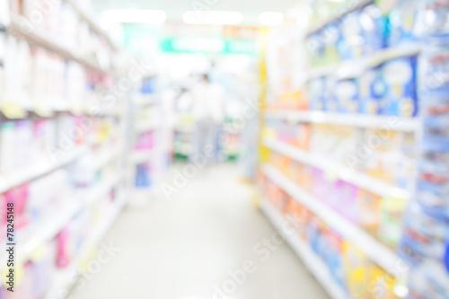 Keuken foto achterwand Boodschappen Supermarket blur background