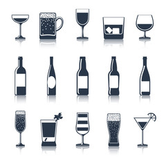 Drink Icons Black