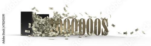 Leinwanddruck Bild safe and 1000000 dollars