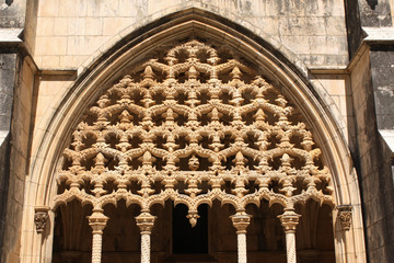 Carvings in Dominican monastery in Batalha, Portugal