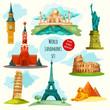 World Landmarks Set - 78245738