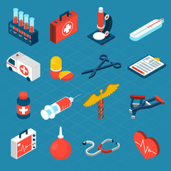Medical Isometric Icons