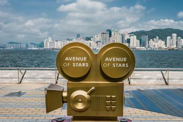 statues Avenue of Stars Tsim Sha Tsui Kowloon Hong Kong