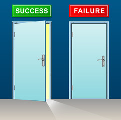 success and failure doors