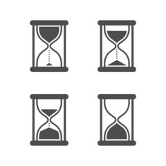 Vector isolated hourglasses icons set