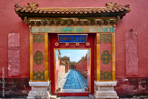 Foto Spatwand Vestingwerk Forbidden City imperial palace Beijing China