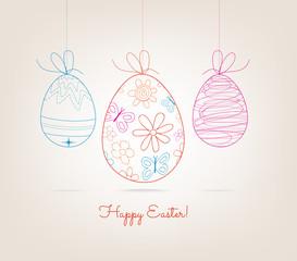 Ornamental doodle easter egg