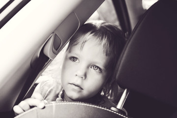 girl  in the car