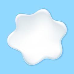Milk, yogurt or cream blot.