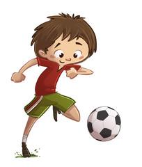 niño jugando a futbol