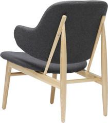 Кресло серое 3/4 сзади