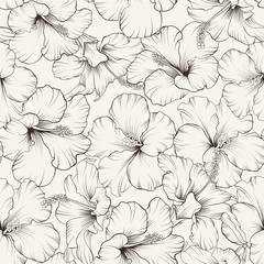Beautiful hibiscus pattern.