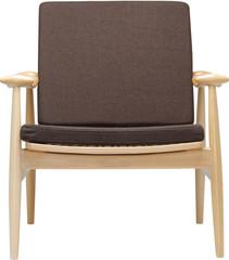 Кресло коричневое с деревом фронт