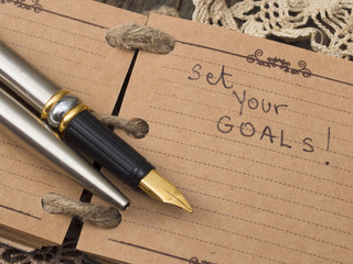 Set your goals, business concept