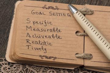 Set your goals, business concept