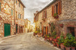 Old italian colorful town in Tuscany