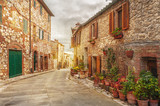 Old italian colorful town in Tuscany - 78248934