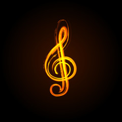 Music notes on a solide white background, easy editable