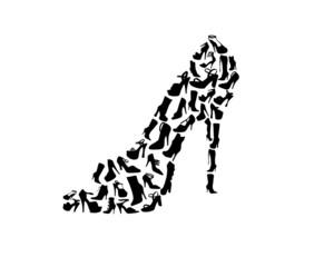 Damenschuh aus Schuhen / Vektor