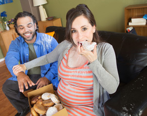 Hungry Pregnant Couple