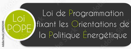 Etiquette Loi POPE