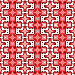 Red kaleidoscope seamless abstract background.