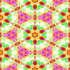 Green pink  kaleidoscope seamless abstract background.