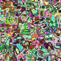 Colorful entwined mosaic background illustration.