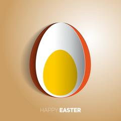 Easter boiled egg - Happy easter card