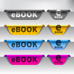 Vector e-book download button