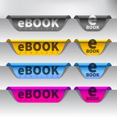 Vector e-book download button