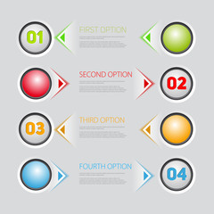 buttons 4 options