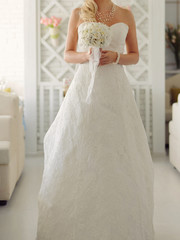 Bride with White Flowers