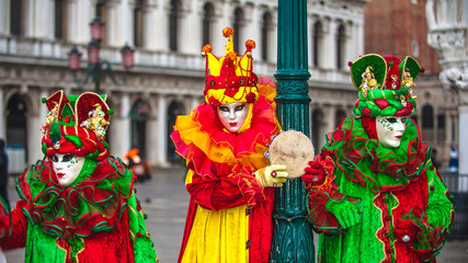 Venetian carnival, masquerade one of a kind in the world.