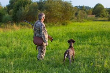 Охотник с собакой.