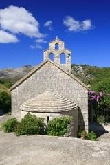Small middle ages church on island Lastovo, Croatia