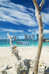 puka beach in boracay island philippines