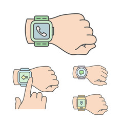 Smartwatch illustrations