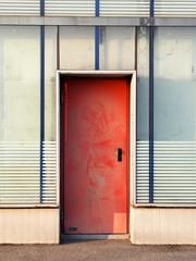 Verschmutzte Eingangstür
