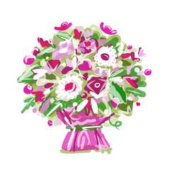 Floral bouquet, sketch for your design