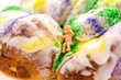 Mardi Gras King Cake with baby - 78254582