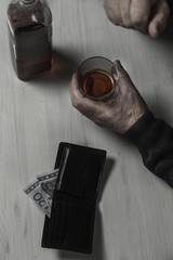 Divorcee falls into alcoholism