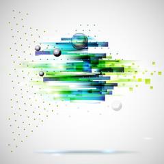 Abstract technology geometric wind illustration