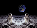 Astronauts Moon Landing Earth