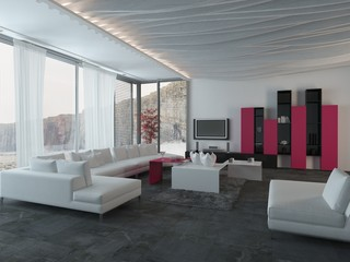 Attractive Architectural Living Room Design