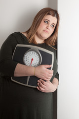 woman worried about weight