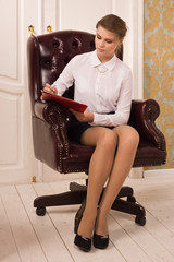 Secretary in a office