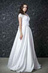 Beautiful woman in white wedding dress