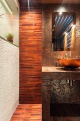 Expensive interior of bathroom