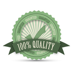 """100% QUALITY"" Marketing Stamp (guarantee top premium)"